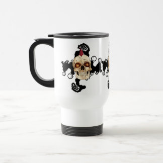 Punk Rock Gothic Skull with Red Mohawk 15 Oz Stainless Steel Travel Mug