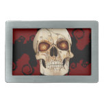 Punk Rock Gothic Skull with Red Mohawk Belt Buckles