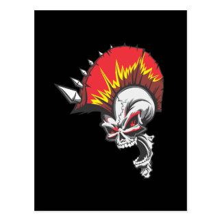 Punk Rock Headbangers Spiked Skull Postcard