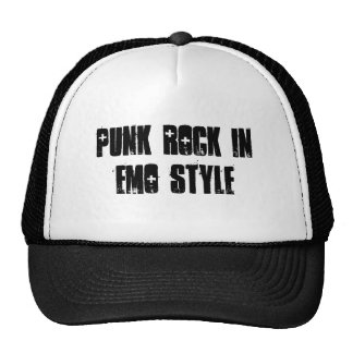 punk rock in emo style - Customized Mesh Hats