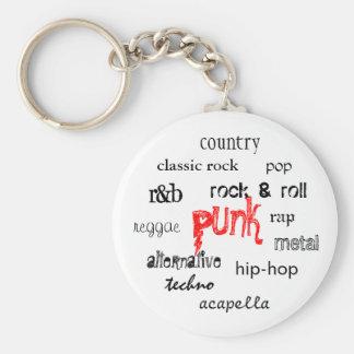 Punk Rock Keychain