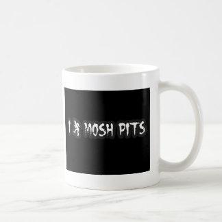 Punk Rock Mosh pit guys girls punk music slam pit Coffee Mug