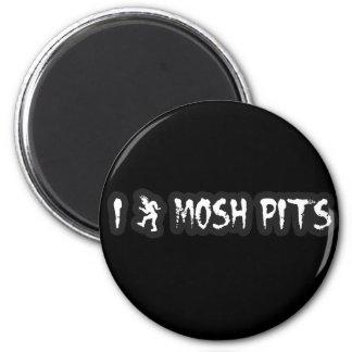 Punk Rock Mosh pit guys girls punk music slam pit Magnet