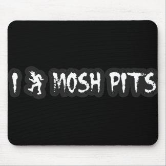 Punk Rock Mosh pit guys girls punk music slam pit Mouse Pad