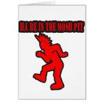 Punk Rock Mosh pit moshing slam dance Greeting Cards