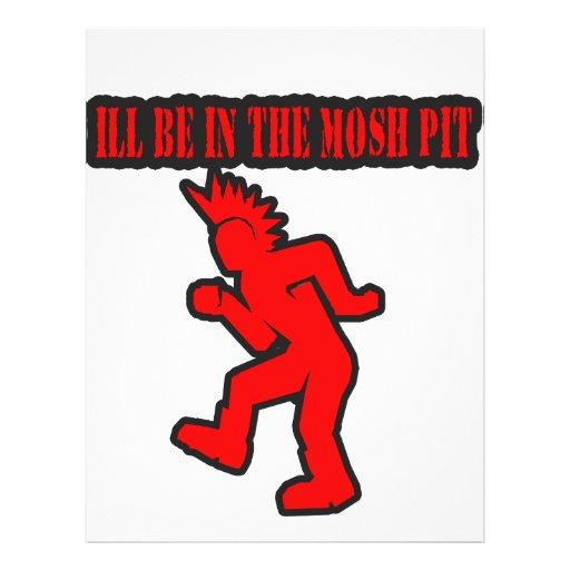 Punk Rock Mosh pit moshing slam dance Flyer