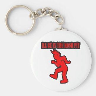 Punk Rock Mosh pit moshing slam dance Basic Round Button Keychain