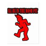 Punk Rock Mosh pit moshing slam dance Postcard
