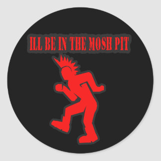 Punk Rock Mosh pit moshing slam dance Classic Round Sticker