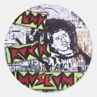 Punk Rock Museum by Sludge Classic Round Sticker