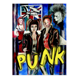 punk rock music fashion image postcard