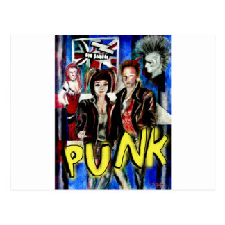 punk rock music fashion image postcard