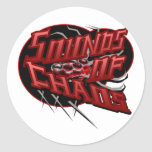 Punk Rock Music Round Stickers