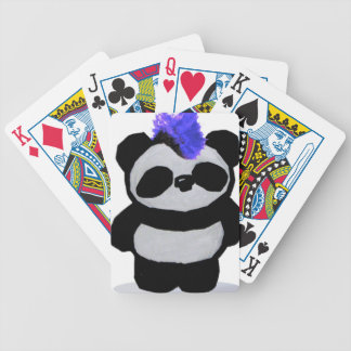 Punk Rock Panda 1 Bicycle Playing Cards