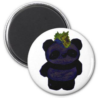 Punk Rock Panda 2 2 Inch Round Magnet
