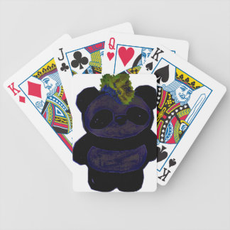 Punk Rock Panda 2 Bicycle Playing Cards