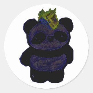 Punk Rock Panda 2 Classic Round Sticker