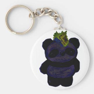 Punk Rock Panda 2 Keychain
