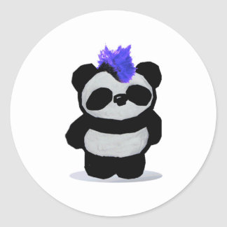 Punk Rock Panda Classic Round Sticker