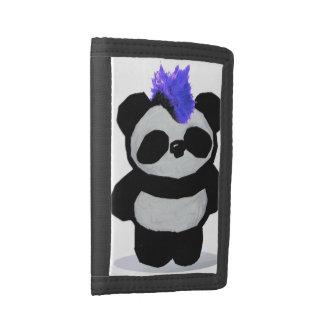 Punk Rock Panda Tri-fold Wallet