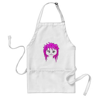 Punk rock pink adult apron