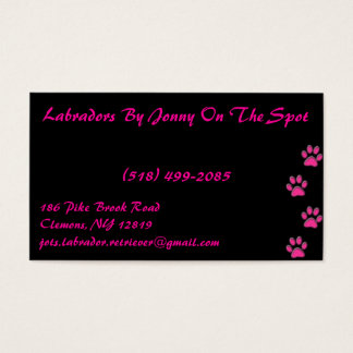 punk rock pink business card