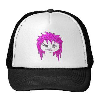 Punk rock pink trucker hat
