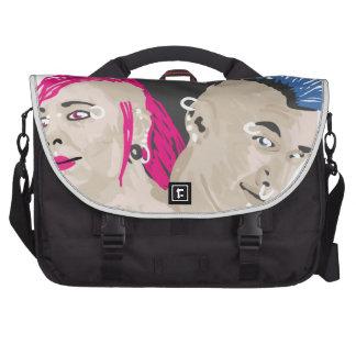 Punk Rock Rules Laptop Messenger Bag