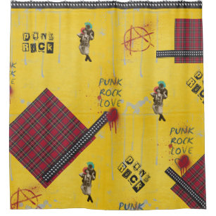 Punk Rock Shower Curtain