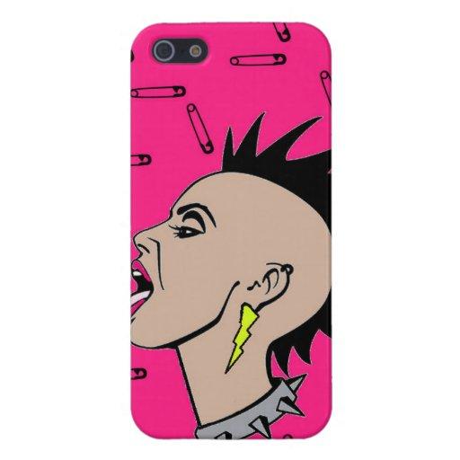 Punk rock Sista iPhone 5 Fundas