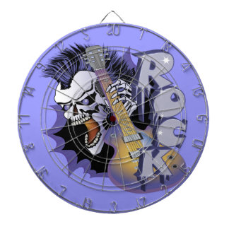 Punk Rock Skull Dartboard With Darts
