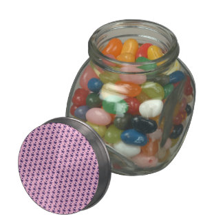 Punk Rock Skulls on Pink Jelly Belly Candy Jar