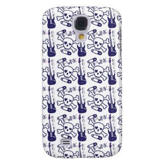 Punk Rock Skulls with Guitars Galaxy S4 Covers