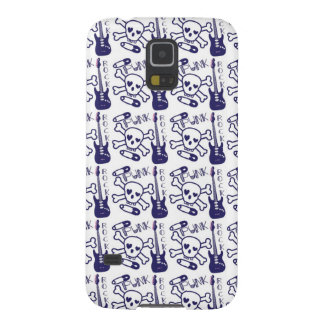 Punk Rock Skulls with Guitars Case For Galaxy S5