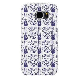 Punk Rock Skulls with Guitars Samsung Galaxy S6 Cases