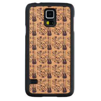 Punk Rock Skulls with Guitars Carved® Cherry Galaxy S5 Slim Case