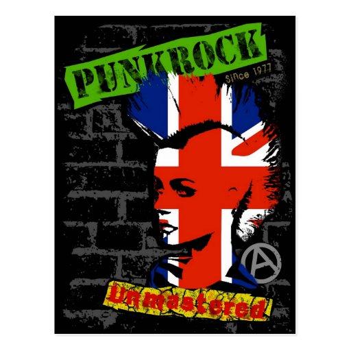 Punk rock - union jack Mohawk Postcards