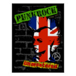 Punk rock - union jack Mohawk Posters