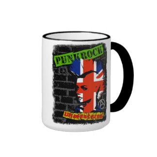 Punk rock - union jack Mohawk Ringer Coffee Mug