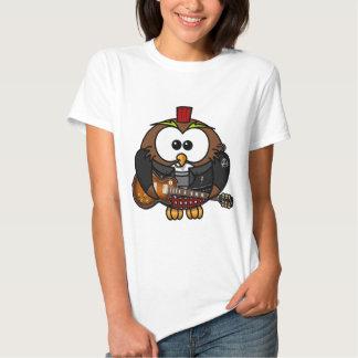 Punk rocker animated owl T-Shirt