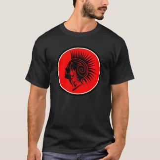 Punk Rocker Mohawk Tribal Design Shirt