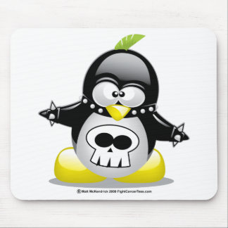 Punk Rocker Penguin Mouse Pad