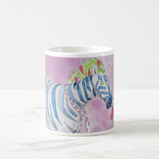 Punk Rocker Zebra Basic White Mug