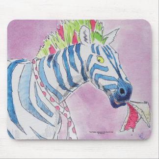Punk Rocker Zebra Mouse Pad