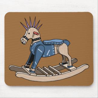 Punk Rocking Horse Mouse Pad