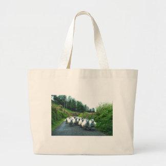 Punk Sheep on the Beara Peninsula Ireland Large Tote Bag