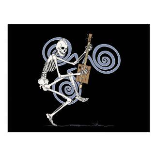 Punk Skeleton Guitarist Postcard