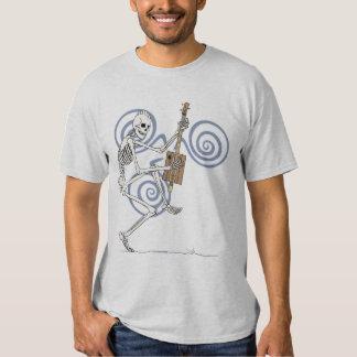 Punk Skeleton Guitarist Tee Shirt
