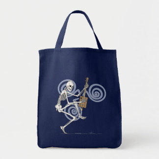 Punk Skeleton Guitarist Tote Bag