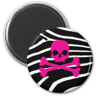 Punk Skull 2 Inch Round Magnet